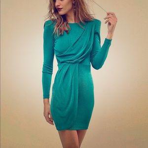 ASOS Asymmetric Shoulder Pad Bodycon Mini Dress